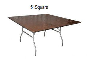 Square Table Rentals